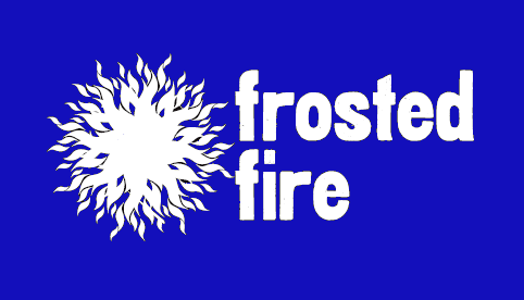 Frosted Fire blue back logo